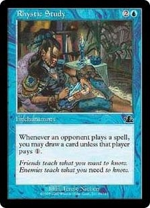Magic the Gathering Prophecy Single Card Common #45 Rhystic Study