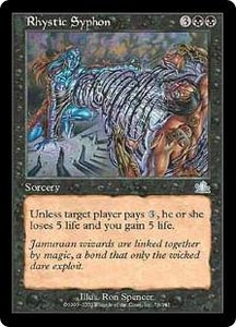 Magic the Gathering Prophecy Single Card Uncommon #76 Rhystic Syphon