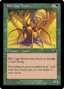 Magic the Gathering Prophecy Single Card Common #121 Rib Cage Spider