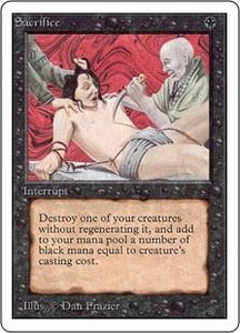 Magic the Gathering Unlimited Edition Single Card Uncommon Sacrifice
