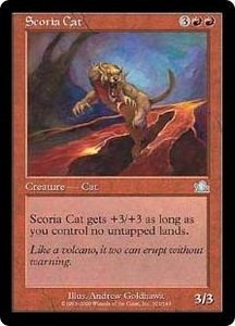 Magic the Gathering Prophecy Single Card Uncommon #101 Scoria Cat