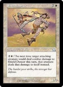 Magic the Gathering Prophecy Single Card Uncommon #23 Shield Dancer