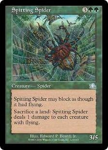 Magic the Gathering Prophecy Single Card Uncommon #125 Spitting Spider