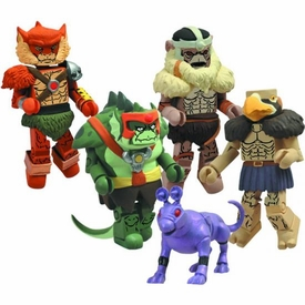 Diamond Select Toys Thundercats Series 2 Minimates Mini Figure 5-Pack [Slithe, Monkian, Jackalman, Vultureman & Scout]