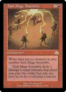 Magic the Gathering Prophecy Single Card Rare #105 Task Mage Assembly Played Condition Not Mint
