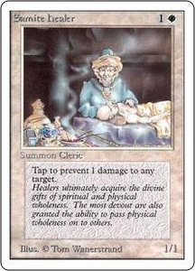 Magic the Gathering Unlimited Edition Single Card Common Samite Healer
