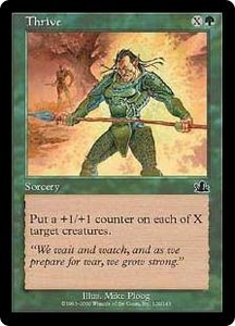 Magic the Gathering Prophecy Single Card Common #129 Thrive