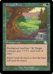 Magic the Gathering Prophecy Single Card Uncommon #130 Verdant Field