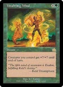 Magic the Gathering Prophecy Single Card Rare #133 Vitalizing Wind Played Condition Not Mint