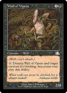 Magic the Gathering Prophecy Single Card Uncommon #80 Wall of Vipers