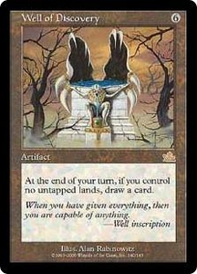Magic the Gathering Prophecy Single Card Rare #140 Well of Discovery Played Condition Not Mint