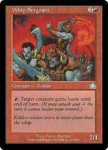 Magic the Gathering Prophecy Single Card Uncommon #107 Whip Sergeant