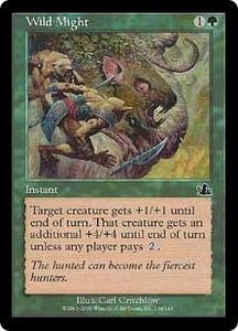 Magic the Gathering Prophecy Single Card Common #134 Wild Might