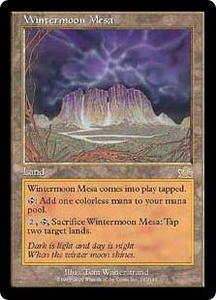 Magic the Gathering Prophecy Single Card Rare #143 Wintermoon Mesa