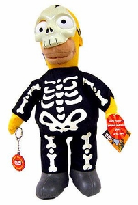 The Simpsons 12 Inch Deluxe Plush Figure Skeleton Homer