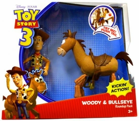 Disney / Pixar Toy Story 3 Action Figure 2-Pack Set Woody & Bullseye Roundup Pack