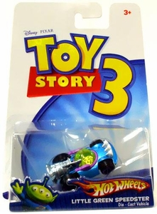Disney / Pixar Toy Story 3 Hot Wheels Die Cast Vehicle Little Green Speedster