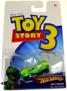 Disney / Pixar Toy Story 3 Hot Wheels Die Cast Vehicle Rex Rider BLOWOUT SALE!