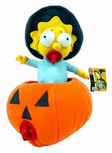 The Simpsons 6 Inch Deluxe Plush Figure Maggie in Pumpkin