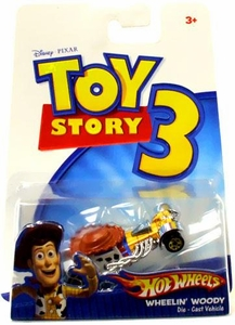 Disney / Pixar Toy Story 3 Hot Wheels Die Cast Vehicle Wheelin Woody