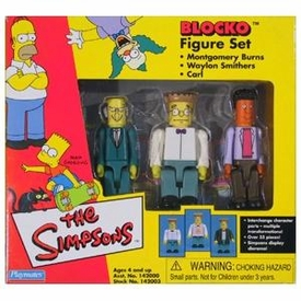 The Simpsons Blocko Figures Mr. Burns, Smithers & Carl