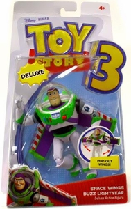 Disney / Pixar Toy Story 3 Deluxe Action Figure Space Wings Buzz Lightyear