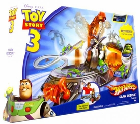 Disney / Pixar Toy Story 3 Hot Wheels Die Cast Vehicle Track Set Claw Rescue