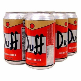 Energy Drink The Simpsons Set of 6 Duff Beer Cans