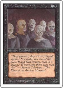 Magic the Gathering Unlimited Edition Single Card Common Scathe Zombies