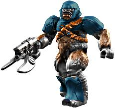 Halo Wars Mega Bloks LOOSE Mini Figure Covenant Blue Brute with Spiker