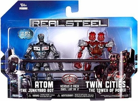 Real Steel Movie BASIC Action Figure 2-Pack Atom Vs. Twin Cities