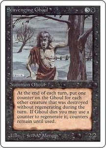 Magic the Gathering Unlimited Edition Single Card Uncommon Scavenging Ghoul
