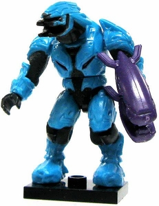 Halo Wars Mega Bloks LOOSE Mini Figure Covenant Cyan Elite with Energy Rifle