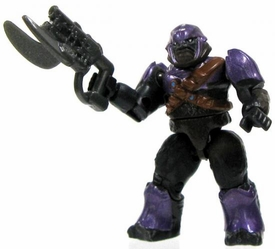 Halo Wars Mega Bloks LOOSE Mini Figure Covenant Purple Brute with Spike Rifle