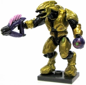 Halo Wars Mega Bloks LOOSE Mini Figure Articulated Covenant Gold Zealot Elite with Needler & Plasma Grenade