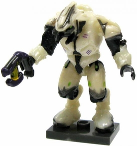 Halo Wars Mega Bloks LOOSE Mini Figure Articulated Covenant White Combat Elite with Plasma Pistol