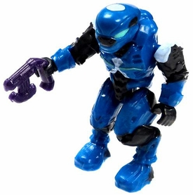 Halo Wars Mega Bloks LOOSE Mini Figure Covenant Blue Elite Banshee Pilot with Pistol