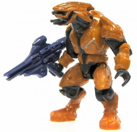 Halo Wars Mega Bloks LOOSE Mini Figure Covenant Orange Elite Combat with Plasma Launcher