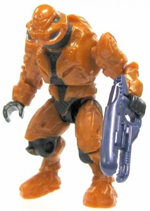 Halo Wars Mega Bloks LOOSE Mini Figure Covenant Orange Elite Commando with Plasma Repeater