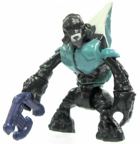 Halo Wars Mega Bloks LOOSE Mini Figure Covenant Teal Grunt with Energy Pistol