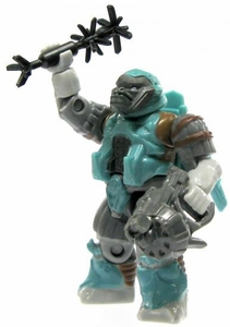 Halo Wars Mega Bloks LOOSE Mini Figure Covenant Teal Jump Pack Brute with Energy Rifle & Spike Grenade