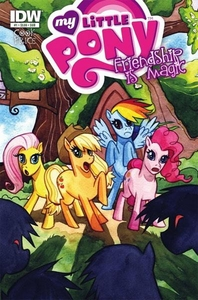 My Little Pony Friendship Is Magic Comic Book #1 Subscription Cover [Flutteryshy, Applejack, Rainbow Dash & Pinkie Pie]