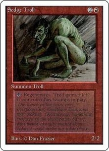 Magic the Gathering Unlimited Edition Single Card Rare Sedge Troll