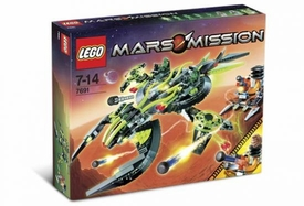LEGO Mars Mission Set #7691 EXT Alien Mothership Assault Damaged Package, Mint Contents!