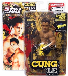 Round 5 World of MMA Champions UFC Exclusive Limited Edition Autographed Action Figure Cung Le [Yellow Shorts]