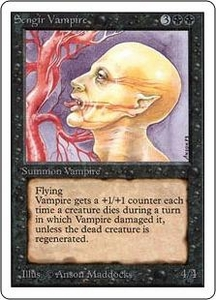 Magic the Gathering Unlimited Edition Single Card Uncommon Sengir Vampire