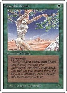 Magic the Gathering Unlimited Edition Single Card Common Shanodin Dryads