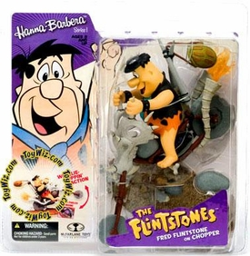 McFarlane Toys Hanna Barbera Series 1 Action Figure Fred Flintstone Chopper