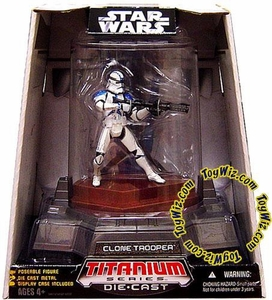 Star Wars Titanium Series Diecast 3 3/4 Figure Limited Edition Clone Trooper BLOWOUT SALE!