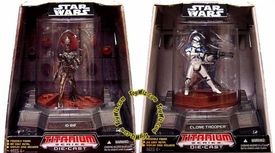 Star Wars Titanium Series Diecast 3 3/4 Set of Limited Edition IG-88 & Clone Trooper